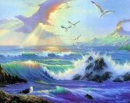 Алмазная мозаика с рамкой Dreamtoys Чайки у моря