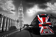 Алмазная мозаика без рамки Dreamtoys Шагая по Лондону