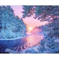 Алмазная мозаика без рамки Dreamtoys Январское солнце