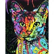 Алмазная мозаика без рамки Dreamtoys Яркая кошка
