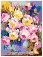 Картина по номерам Dreamtoys Цветы в голубой вазе