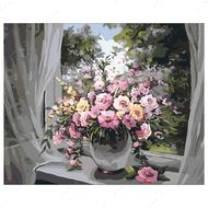 Картина по номерам Dreamtoys Цветы на окне