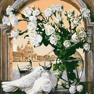Картина по номерам Dreamtoys Этюд в белых тонах