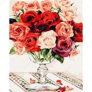Картина по номерам Dreamtoys Яркие розы