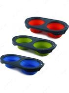 Складная миска для кормления синяя Collapsible Pet Feeder™