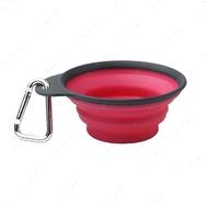 Дорожная складная миска с карабином для собак и кошек красная Collapsible/ Expandable Travel Cup™