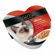 Влажный корм для котов с гусем и печенью в яблочном желе Edel Cat heart Mit Gans & Leber