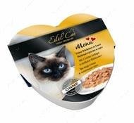Влажный корм для котов три вида птицы в тыквенном соусе Edel Cat heart