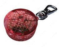 """""""Flasher"""" Светящий брелок-подвеска для собак и кошек, красный, диаметр 2,5 см"""