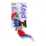 Игрушка для кошек рыбка с кошачьей мятой Petstages Feather Fish Bone Cat Toy