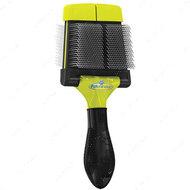 Жесткая двухсторонняя щетка для малых и средних пород , размер S Small Firm Slicker Brush