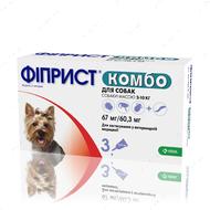 Фиприст Комбо для собак от внешних паразитов, от 2 до 10 кг