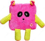 Игрушка Мордочки для собак розовый GimDog CUDDLY CUBES