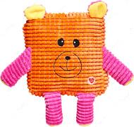 Игрушка Мордочки для собак оранжевый GimDog CUDDLY CUBES