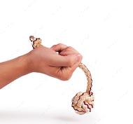 1 кулак с веревкой вязаный (2 секции)