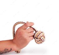 1 кулак с веревкой вязаный (3 секции)
