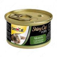 """Консервы для кошек с курицей и травой """"ShinyCat Chicken and Cat-nip in jelly"""""""