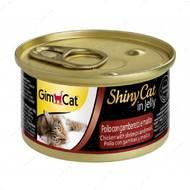 """Консервы для кошек с курицей, креветками и солодом """"ShinyCat Chicken with shrimps and malt"""""""