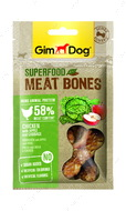 Мясные косточки для собак с курицей, яблоком и капустой GimDog Superfood Meat Bones chicken with apple and cabbag