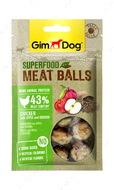 Мясные шарики для собак с курицей, яблоком и киноа GimDog Superfood Meat Balls chicken with apple and quinoa