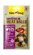 Мясные шарики для собак с курицей, сладким картофелем и просом GimDog Superfood Meat Balls chicken with sweet potato and millet