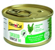 Консервы для котов курица с травой Shiny Cat SUPERFOOD