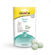 Витаминизированное лакомство для котов для зубов GimCat Denta Tabs