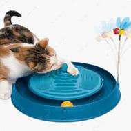 Игрушка для кота круглый лабиринт с шариком и массажером Catit 3in1 Circuit Ball Toy with Catnip Massager