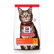 Сухой корм для взрослых кошек с курицей Hill's Science Plan Adult