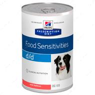 Ветеринарная диета для собак при дерматологических или желудочно-кишечных расстройства с лососем Hill's Wet Prescription Diet d/d Canine Salmon Formula