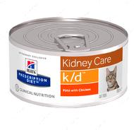 Ветеринарная диета для кошек при заболевании почек и сердца Hill's Wet Prescription Diet Feline k/d