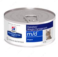 Ветеринарная диета для кошек с сахарным диабетом или избыточным весом Hill's Wet Prescription Diet Feline m/d