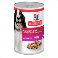 Влажный корм для взрослых собак с говядиной Hill's Science Canine Adult with Beef
