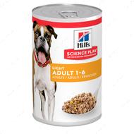 Влажный корм для взрослых собак склонных к ожирению Hills Science Plan Canine Adult Light