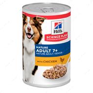 Влажный корм для стареющих собак старше 7 лет с курицей Hills Science Plan Mature Adult 7+ Chicken
