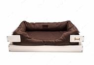 Лежак для кошек и собак Dreamer White + Brown