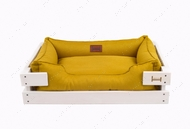 Лежак для кошек и собак Dreamer White + Mustard