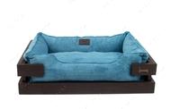 Лежак для кошек и собак Dreamer Brown + Blue Velvet