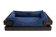 Лежак для кошек и собак Dreamer Brown + Denim Velvet