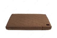 Ортопедический стеганный матрас из бежевой мебельной рогожки с усиленной поверхностью Oliver Cacao