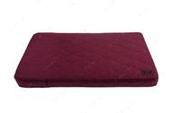Ортопедический стеганный матрас из чернильной мебельной рогожки с усиленной поверхностью Oliver Ink