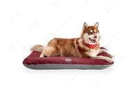 Влагостойкий двухсторонний лежак-понтон бордо с серым Lounger Red+Gray Waterproof