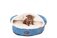 Лежак с капюшоном Cover Denim, синий