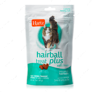 Лакомства для вывода шерсти для котов и котят Hartz Hairball treat plus soft chews for cats and kittens