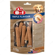 Лакомство для собак Ребрышки 8in1 Triple Flavour Ribs