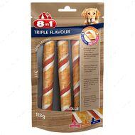 Лакомство для собак Трубочки 8in1 Triple Flavour Rolls