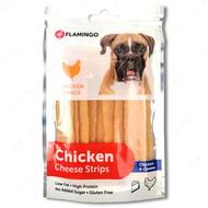 Лакомства для собак полоски с сыром Flamingo Chicken Snack Cheese Strips