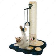 """Scratch Kitty Kidz II Blue"" комплекс когтеточка для кошек, два меховых шарика"