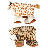 """Plush Safari Animals"" САФАРИ складная мягкая игрушка для собак, тигр, корова"