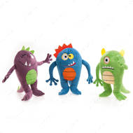 """Plush Monsters Happy"" МОНСТР игрушка для собак, плюш, с пищалкой"